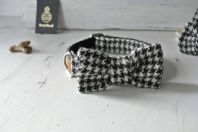 Black & White Tweed Check Bow Tie